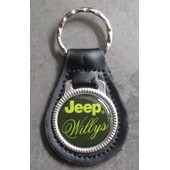 Porte Cl� Jeep Willy 4x4 Militaire Vert En Cuir Et Metal Neuf Keychain New Rare