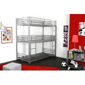 Lits Superpos�s Swithome Trio 90x190 Argent