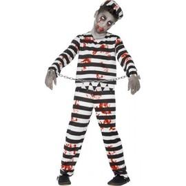 D�guisement Zombie Prisonnier Gar�on Halloween, Taille 13 � 15 Ans