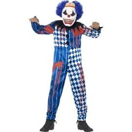 D�guisement Clown Arlequin Enfant Halloween, Taille 10 � 12 Ans
