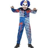 D�guisement Clown Arlequin Enfant Halloween, Taille 7 � 9 Ans