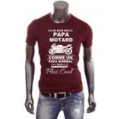 T-Shirt Homme Je Suis Un Papa Motard