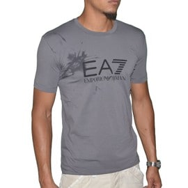 Ea7 - Tee Shirt Manches Courtes - Homme - Train Butterfly - Gris