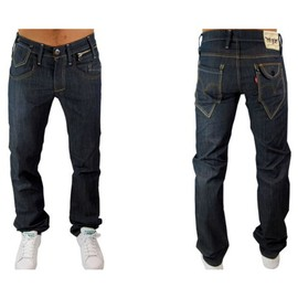 Levis - Jean - Homme - 504 Straight Leg 0005 - Bleu Brut - Stretch