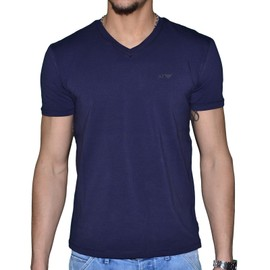 Armani Jeans - Tee Shirt Manches Courtes - Col V - Homme - 06h29 Classic - Navy