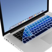 Kwmobile� Protection De Clavier Robuste, Fine En Silicone Pour Apple Macbook Air 13''/ Pro Retina 13''/ Pro Retina 15'' En Bleu Clair Bleu Fonc� Pente - Protection Effective Contre Salet� Et Usure