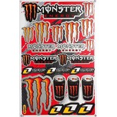 Planche Autocollant Stickers Monster Energy 27x18 Cm #1
