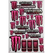 Planche Autocollante Stickers Monster Energy + De 20 Pieces #3