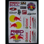 Planche Autocollante Stickers Torro Rosso ( Style Monster Energy ) 18 Pieces