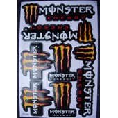 Planche Autocollant Stickers Monster Energy 7 Pieces