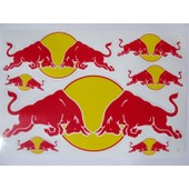 Planche Autocollante Stickers Torro Rosso (Style Monster Energy ) 7 Pieces