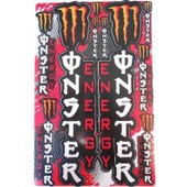 Planche Autocollante Stickers Monster Energy Verticaux Rouge