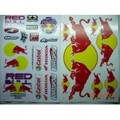 Planche Autocollant Stickers Torro Rosso ( Style Monster Energy ) - Lot De 2
