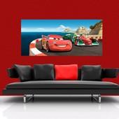 Poster G�ant Cars Sur Piste Disney