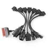 Kit 8 Cables - Psa Bmw Audi Mercedes - Compatible Autocom / Delphi / Valise Diag