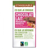 Ethiquable - Chocolat Lait Nougatine Noisette Bio & �quitable 100 G - R�publique Dominicaine