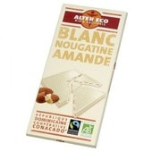 Alter Eco Chocolat Blanc Nougatine Amandes Bio Et �quitable 100 G - Origine : R�publique Dominicaine