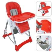 Chaise Haute R�glable Pour B�b� - Chaise Rouge Avec Tablette Pour Enfants De 6 Mois � 3 Ans