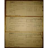 Sncf Billet + 2 R�servation Aller-Retour 02.08.91 Et 05.08.91