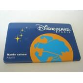 Passeport Disneyland Paris - Haute Saison - Adulte -