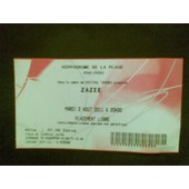 Ticket Concert Zazie 2011