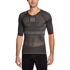 Compressport On/Off T-Shirt Premi�re Couche Compressif Manches Courtes Homme Gris Fr : M Taille Fabricant : T2