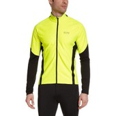 Gore Running Wear, Homme, Maillot De Course � Pied, Manches Longues, Longues Courses, Windstopper Soft Shell, Air So, Neon Yellow/Black, Taille: Xl, Swairt089910