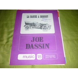 PARTITION PAROLE LA BANDE A BONNOT JOE DASSIN