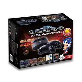 Image Console Sega Megadrive Classic Sans Fil + 80 Jeux + Port Cartouche Édition Mortal Kombat
