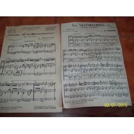 lot de 2 partitions pour harmonie et fanfare avec clairons ad lib marche de la renaissance,les saltimbanques louis ganne