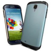 Etui Housse Coque Samsung Galaxy S4 Mini Slim Armor Bleuargente Dreamshop75�