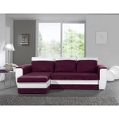 Canap� D'angle R�versible Switsofa Brugges Prune/Blanc