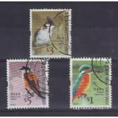 Hong Kong 2006 : Oiseaux Divers - S�rie De 3 Timbres Oblit�r�s