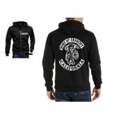 Veste Sweat Zippe Capuche Shirt Sons Of Anarchy California Samcro Soa