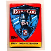 Pack Booster Trading Cards Robocop 2 1990