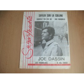 JOE DASSIN - PARTITION SIFFLER SUR LA COLLINE -