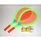 Raquette Badminton Tissus + Balle Mousse Jaune Mondo Raquettes De Plage Vert Orange