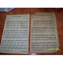 lot de 2 partitions pour harmonie et fanfare luna-park,le coeur de la france