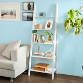 Sobuy Frg61-W Biblioth�que, �tag�re Style �chelle, �tag�re �chelle, 5 �tages �Blanc