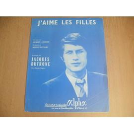 JACQUES DUTRONC . J AIME LES FILLES . PARTITION DE 1967 .