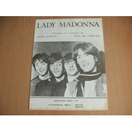 LES BEATLES - PARTITION LADY MADONNA -