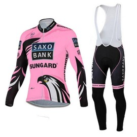 Saxo Bank Sungard Femmes Maillot Cyclisme Longue + Collant � Bretelles
