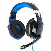 XCSOURCE EACH G2000 Casque Gaming St�r�o USB Plug Led Alimentation Vibration Fonction Jeux Professionnel Ear Force avec Microphone Ecouteurs Basse antibruit pour Xb3 PC Mac en Noir-Bleu TH092