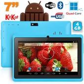 Tablette tactile 7 pouces bluetooth Quad Core Android 4.4 KitKat 4Go Bleu