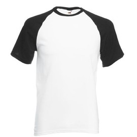 Fruit Of The Loom Short Sleeve Baseball T-Shirt
