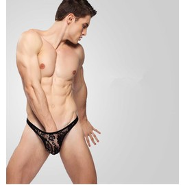 Slip String Dentelles S M L Xl Transparent Homme Thong Man Underwear