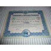Compagnie De Vapeurs Fran�ais Obligation1919 6%