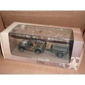 [277] Miniature 1,43�me : Cruiser Jeep Mb - Couleur Vert Arm�e - Marque : Editions Atlas