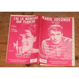 rare double partition JEANNE MOREAU j'ai la mémoire qui flanche / ALAIN BARRIERE Marie Joconde JACQUELINE FRANCOIS COMPAGNONS DE LA CHANSON