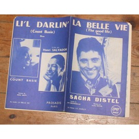 Double partition SACHA DISTEL la belle vie / HENRI SALVADOR COUNT BASIE li'l darlin'